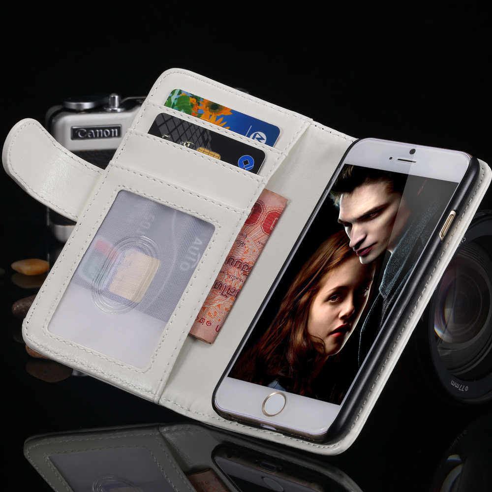 Luxury Crazy horse Wallet Flip Phone Case for iphone 6 Photo Frame Stand PU Leather Cover for iphone6 , 4.7
