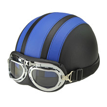 Hot Sales Motorcycle Helmets For Harley Bike Bicycle Open Face Retro Half Moto Helmets With Goggles Leather Scarf Helmet Unisex(China (Mainland))