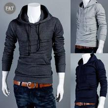 [Asian Size] Korean New Jacket Slim Hoodies Mens Turtleneck Sports Coats Sweatshirt Sportswear Casual Pullover Outerwear 5 Color(China (Mainland))
