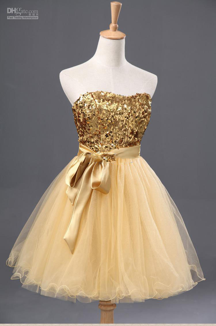 Black dress yellow sash - Yellow Gold Cocktail Dress