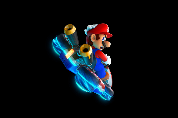 Free Shipping Super Mario Galaxy Flying car Wallpapers Custom Canvas Posters Game Stickers Home Decoration Gift #PN#528#(China (Mainland))