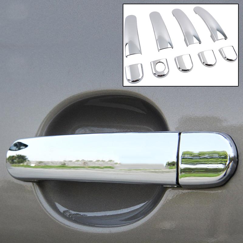 Fit For 2009 2012 2013 VW Tiguan 2012-2014 Sagitar/Jetta/Vento Chrome Side Door Handle Bar Cover Catch Trim Bezel Accessories(China (Mainland))