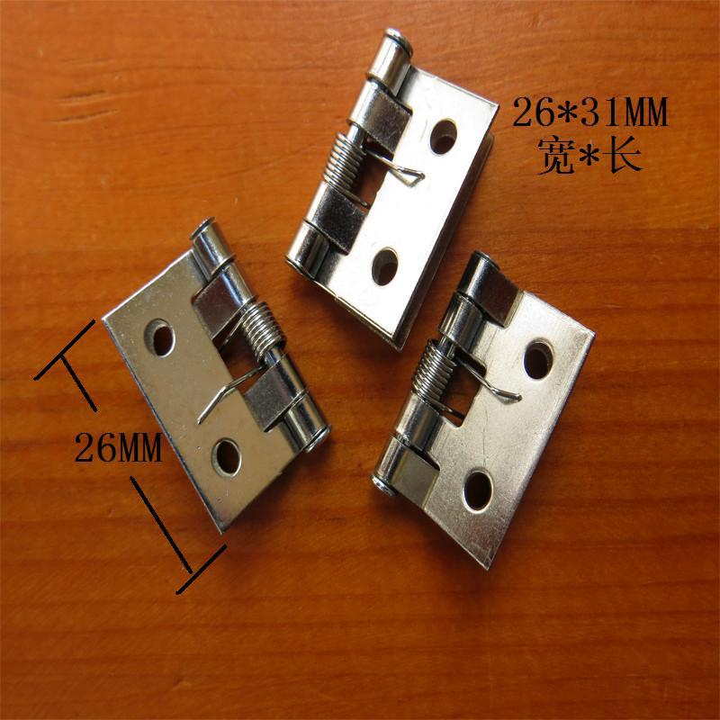 26*31MM 50pcs spring hinges for furniture wooden jewelry box hanges antique decorative cabinet hinge bisagras(China (Mainland))