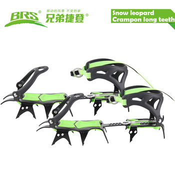 Free shipping fourteen teeth long teeth mountaineering equipment  climbing gear hiking boots crampons ice axe ice grippers