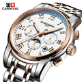 Luxury Brands Carnival watch men sapphire Gold stainless steel waterproof Wristwatches Automatic machine watch relogio masculine
