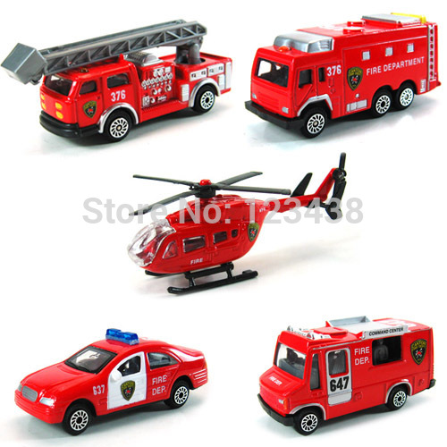 Mini Metal Alloy Red Fire Rescue Truck Engine Toys for Kids Diecast(China (Mainland))