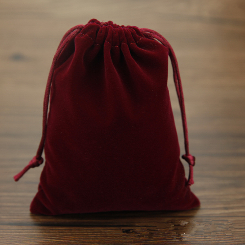 15x20cm Dark Red Jewelry Bag Velvet Pouch Gift Bags With Drawstring Jewellery Packaging Wholesale 20pcs/lot Jewelry Pouches(China (Mainland))