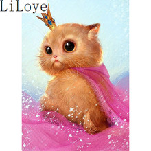 Buy Li Loye Diamond Mosaic Full 5D Diamond Embroidery Cat DIY Diamond Painting Cross Stitch Kits Needlework Round Drill Resin JK564 for $6.79 in AliExpress store