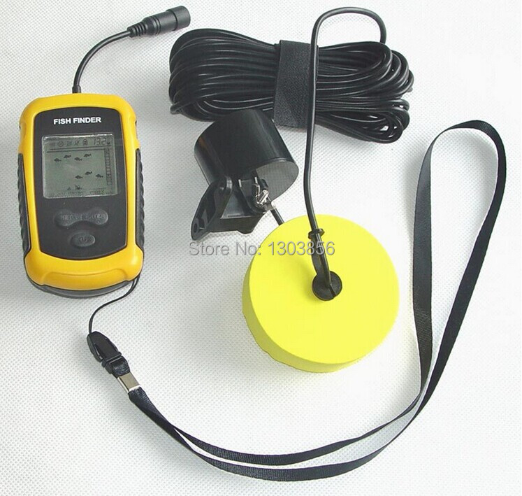 Portable Fish Finder Depth Sonar Sounder Alarm Transducer Fishfinder 100m Fishing Bait Tool