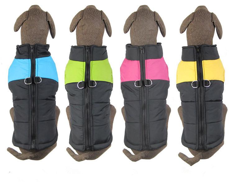 Free Shipping Large dog Winter Clothes Pet Dog Apparel Dog Vest Dog Winter Warm Vest 4 Color Top Quailty