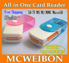 card reader micro sd all in one card reader tf m2 ms mmc sd cartao de memoria 64gb Cardreader sim card clone card reader multi