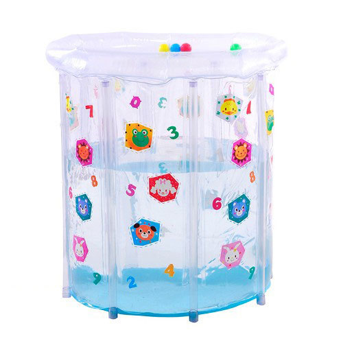 Baby pvc transparent colored drawing baby swimming pool mount - 75 73cm 2500