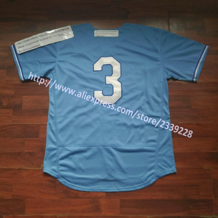 Baby Blue Customized Stiched Team Logo & Name & Number Mens Custom Baseball Jersey Personalized Jerseys Shirts Size S-6XL(China (Mainland))