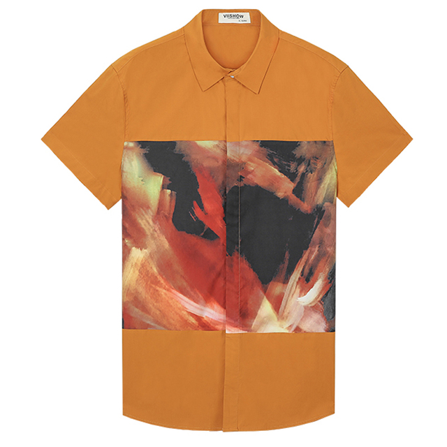 Viishow известный бренд одежды мужские рубашки 2015 Летние Моды для Мужчин Рубашка ...