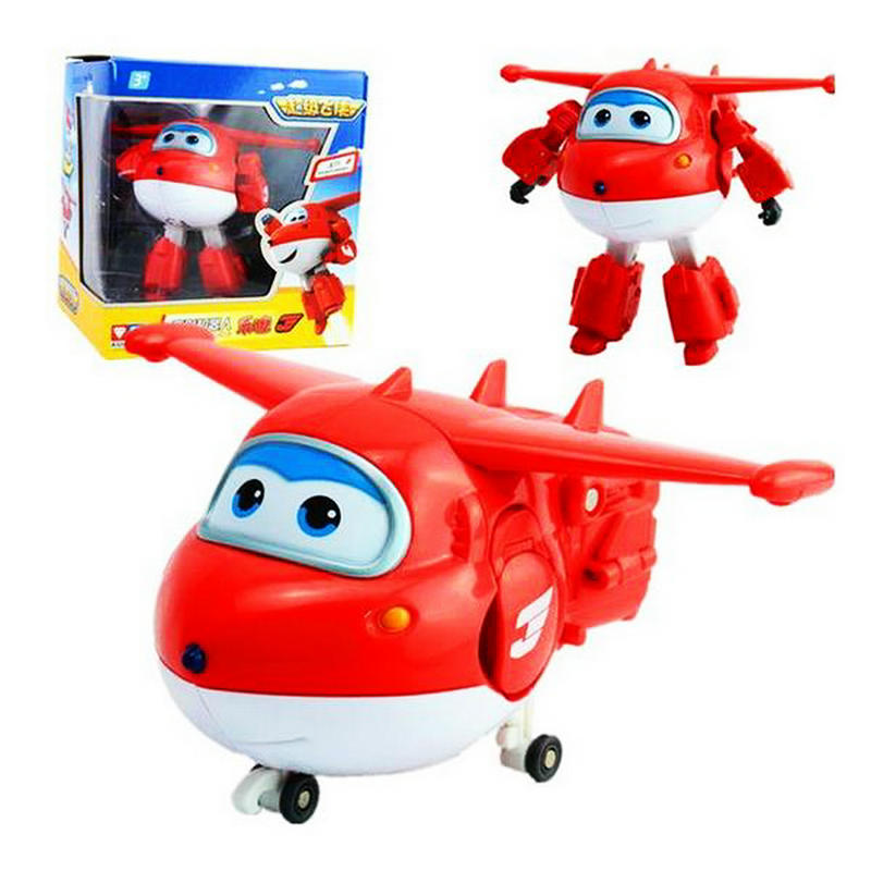 Big!! 15 cm Super Wings ABS Deformation Airplane Robot Action Figures Super Wing Transformation toy for children gift Brinquedos(China (Mainland))