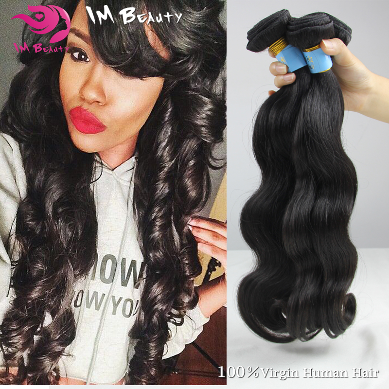 Unprocessed Cambodian Virgin Hair 3pcs Cambodian Body Wave Virgin Hair 100% Human Virgin Hair RosaHair Products Natural Black()