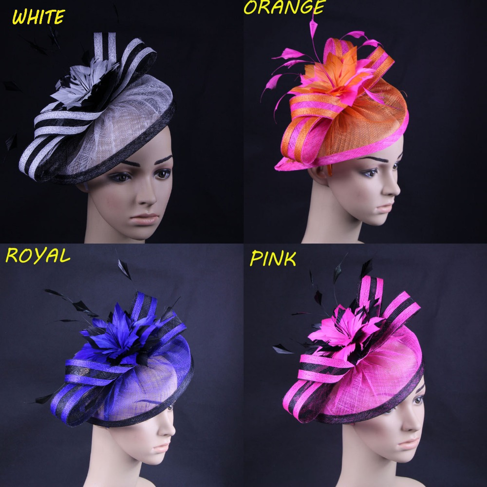 4pcs/lot Mixed Color Sinamay Fascinator Hair Accessories For Wedding,Cocktail,Races(China (Mainland))