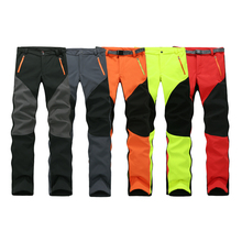 Camping Hiking Winter Outdoor Sport Pants Warm Waterproof Fleece Windproof Fishing Pants Men Women Mountain Climbing pantalones(China (Mainland))