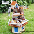 Wooden Handmade Dollhouse Miniature DIY Kit Large Villa Furniture Accessories a013 DOLLS HOUSE