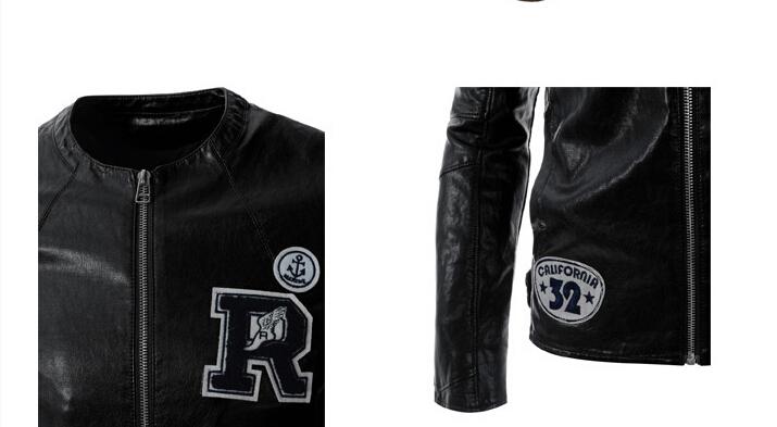 Embroidered Leather Jacket Leather Motorcycle Jacket