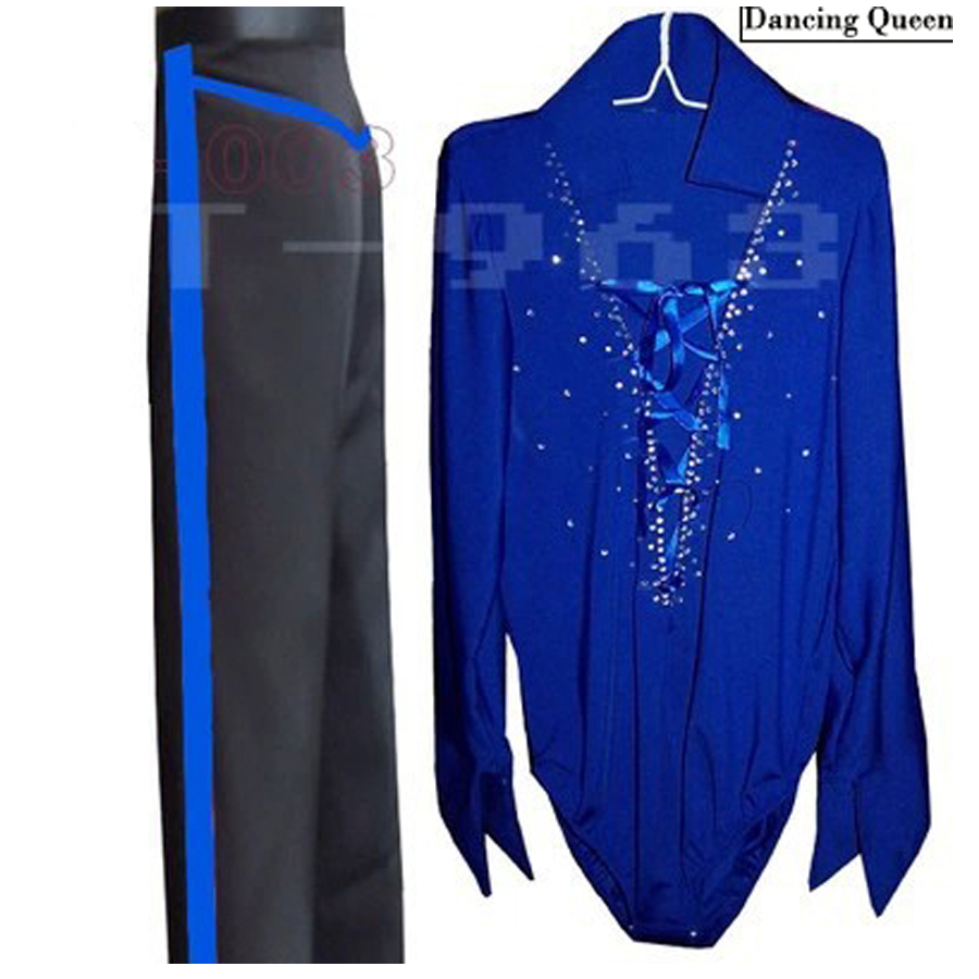 Men/Boy Latin Dance Dress 5 Colors Mens Latin Shirts&Pants For Dance Cha Cha/Rumba/Samba/Ballroom Dancewear Dance Costumes Men(China (Mainland))