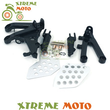 Buy Black Front Rider Footrests Foot Peg Rests Pedals Tripod Brackets Mount Honda CBR600RR 07 08 09 10 11 12 13 14 for $8.99 in AliExpress store