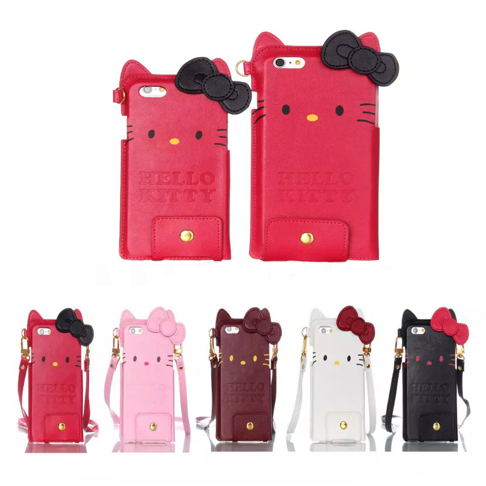 2015 Cute Cartoon Fashion Hello Kitty Lady Girl Gift Mobile Phone Funda Case For iphone 6 6Plus Phone Pouch Protector Covers(China (Mainland))