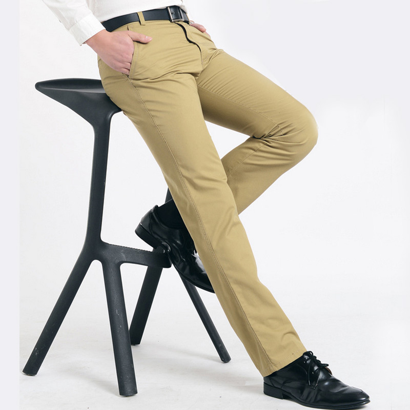 Free Shipping 2016 Fashion Mens Casual Business Dress Pants Pantalones Hombre Cotton Outdoors Comfortable Trousers Top Brand K13(China (Mainland))