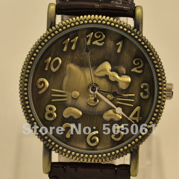 Vintage Real Leather watch Women Hello Kitty Watch Ladies Quartz C011O - Superpopular Store store