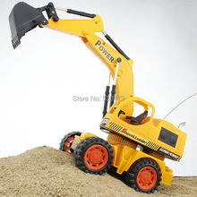 Wireless remote control toy excavator digging engineering machine hook electric car charging children gift(China (Mainland))