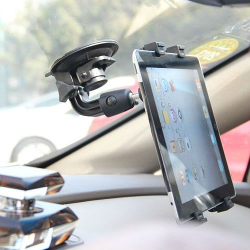 """Universal Car holder Clip Windshield Stand for iPad 2 3 4 air Mini Tablet PC Holder Rotating 360 Degree for 7"""" 8"""" 9"""" 10.1"""" inch(China (Mainland))"""