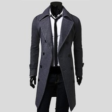 Blusa De Frio Colete 2015 Winter Men Trench Coat British Style Double Breasted Long Brand Clothes Outdoors Overcoat Plus Size(China (Mainland))