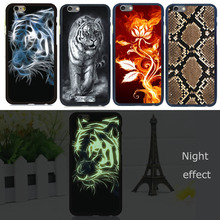 New Case For iPhone 5 5s SE Luminous Matte Glow in Dark PC Tiger Monroe Patined Phone Shell Cover Skin For Apple iPhone5S Case(China (Mainland))