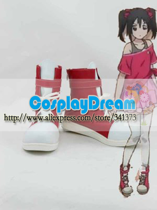 Customize boots Love Live! Yazawa Nico Red & White Cosplay Boots Anime party cosplay shoes - CosplayDream Store store