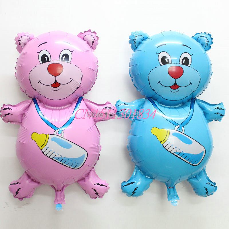 New 50PCS/LOT big balloon for baby birthday party suplies/bear with milk bottle balloons for birthday party/helium foil balloons<br><br>Aliexpress