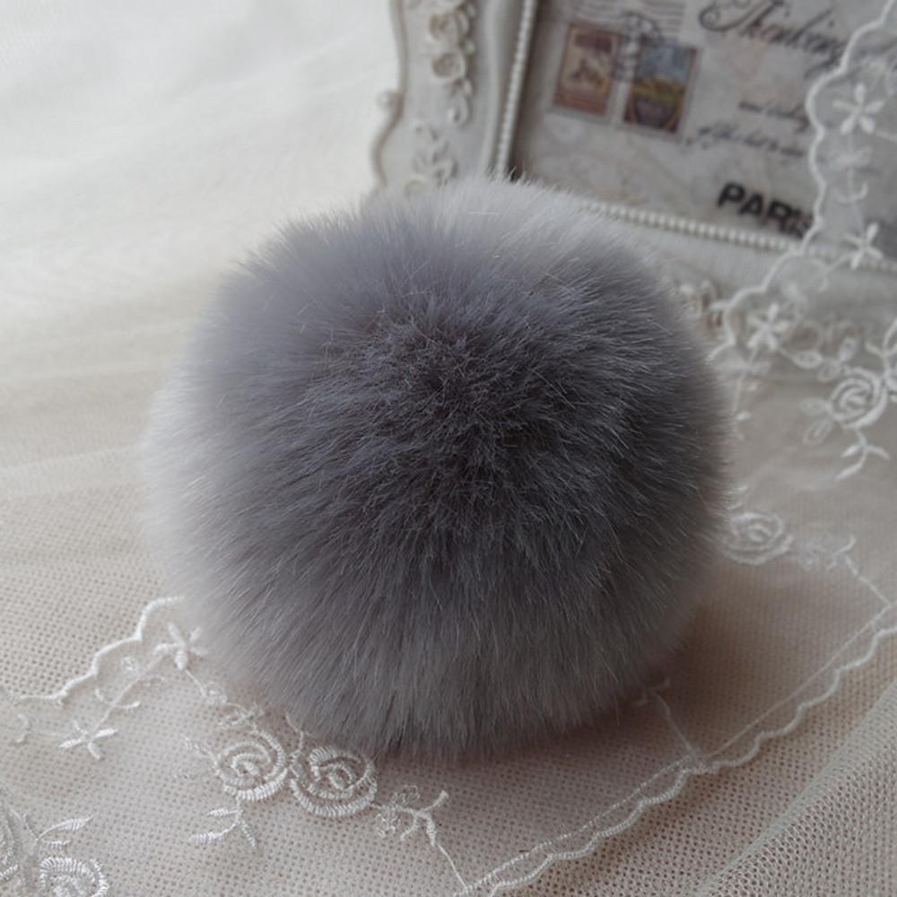 Key Chain Women Ladies Pompon Rabbit Fur Ball Keychain Mobile Phone Plug Backpack Bags Decorations Key Holder Trinket Feida(China (Mainland))