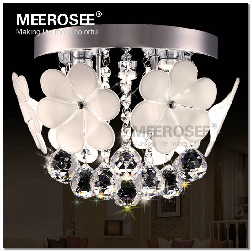 Flush Mounted Flower Crystal Chandelier Light Fixture Cristal Lustres Aisle Porch Hallway Corridor Lamp for Ceiling<br><br>Aliexpress