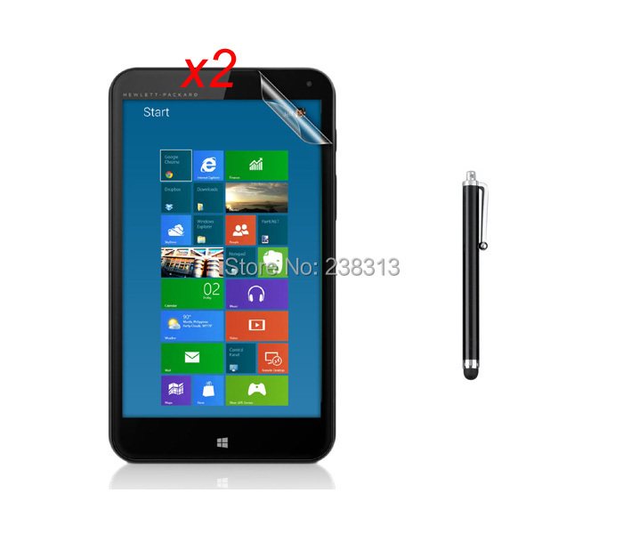2PCS Anti-Finger Anti-Glare Matte Matted Screen Protector Film Films Guards + Stylus Touch Pen For HP Stream 7 7 inch Tablet(China (Mainland))