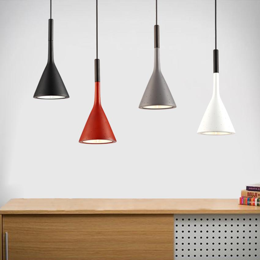 [DBF] Modern minimalist imitation concrete Decor Resin Replica LED pendant lamp for restaurant bar bedroom black  white  red
