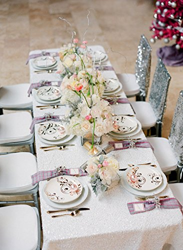 """Sequin Tablecloth Wedding Cake Tablecloth ,Square Sequins Table Linen ,Wedding sequin table linens 90""""X156""""Red /Pink /white(China (Mainland))"""