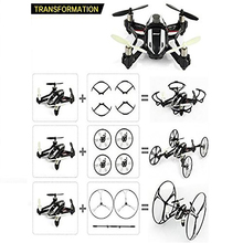 Multiple Choice UFO 4-in-1 RC Quadcopter 3D Flip 2.4GHz RC Drone/Car with 2.0MP HD Camera Helicopters