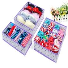 2016 Organizadores Organizer New 3 Pcs/set Storage Box Set For Holder Bra Underwear Tie Socks With 6/7/24 Cell Hot Sale(China (Mainland))