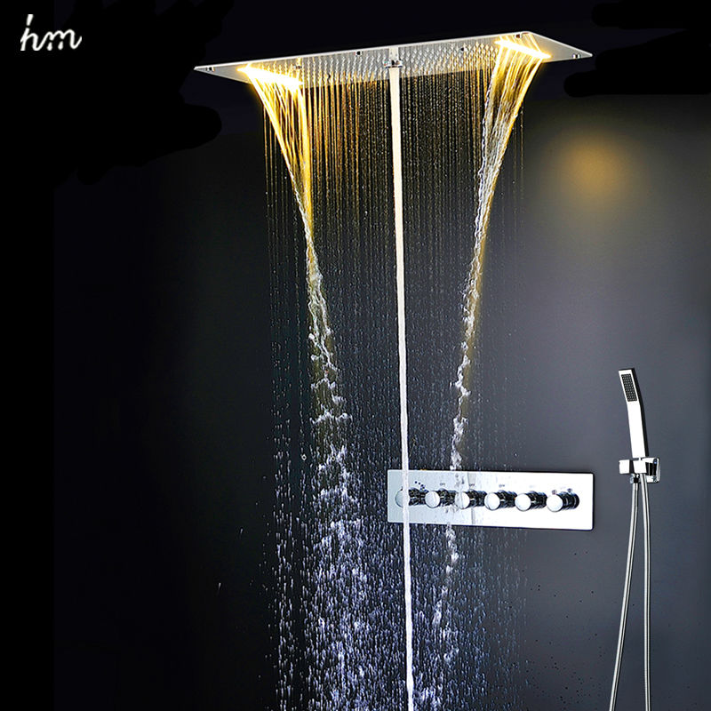 Compra ducha mezclador de agua online al por mayor de for Ducha de lluvia techo