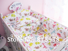 With Filler!!!! Free shipping baby bedding kit baby bedding piece set newborn bedding Sizes Available  (China (Mainland))