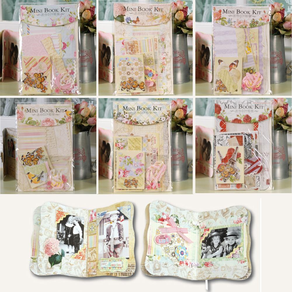 3 sets of mini album scrapbooking kits for kids diy scrapbook album making pe - Scrapbooking album photo ...