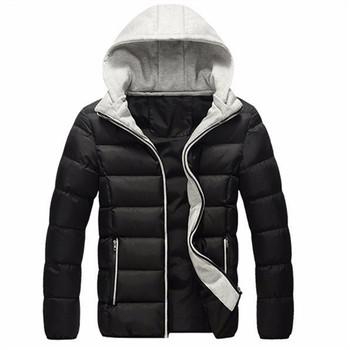 Новый 2015 марка зима мужчин теплый пуховик свободного покроя парка мужчины хлопка-ватник зимняя куртка свободного покроя красивый зимнее пальто мужчины