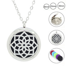 Chain Gife! 20mm,25mm,30mm 316LStainles Steel Silver Color Essential Oil Diffuser Perfume Locket Pendant - PP jewelry store