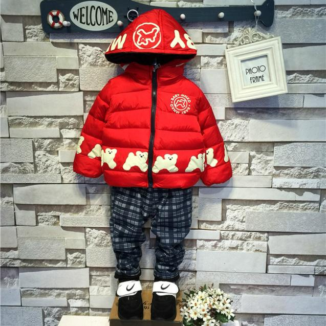 2015 New Fashion Childrens Kids Boys Winter Cartoon Wild Dog Padded Jacket (4 Size /Lot) - 1 TO 3 store