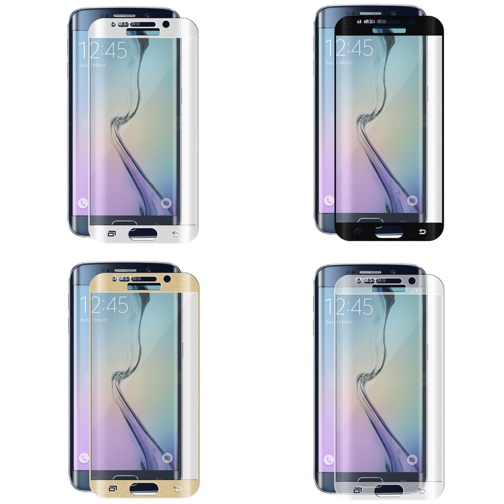 0.2mm Full Screen 3D Curved Tempered Glass LCD Protector Film Samsung S6 edge - ONEWAY Technology Co.,LTD store