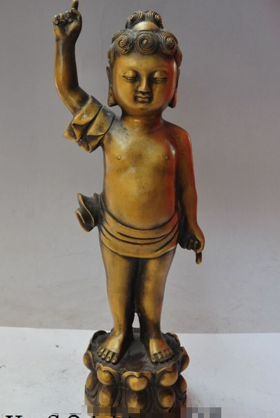 "15""Tibet Buddhism Absolute pure Bronze Sakyamuni Refers Day Ground Buddha Statue(China (Mainland))"